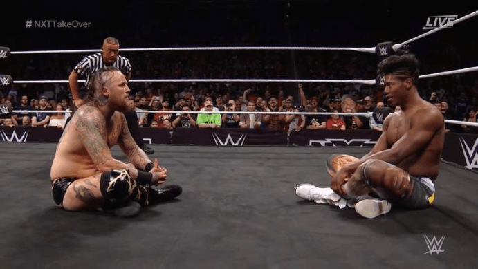 Aleister Black and Velveteen Dream stare each other down at NXT: Takeover