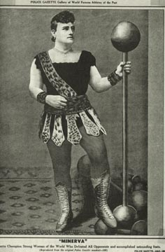 Josie Wahlford, wrestler in the National Police Gazette