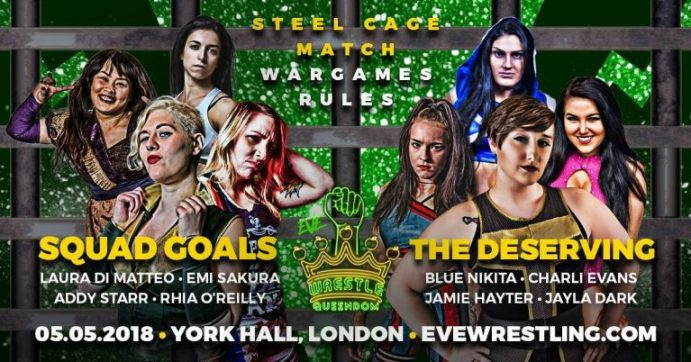 War Games Rules match graphic for Wrestle Queendom
