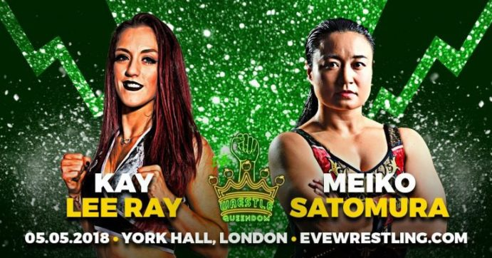 Kay Lee Ray vs Meiko Satomura graphic for Wrestle Queendom