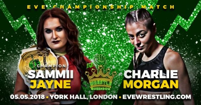 Sammii Jayne vs Charlie Morgan match graphic for Wrestle Queendom