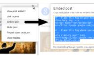 【Goolgle+の追加機能で投稿を「外部サイトに埋め込む」ことが可能になりました】これ待ってました~!!
