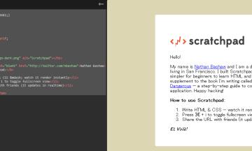 【リアルタイムでHTML,CSSの編集が誰でもできて、大勢で共有できるサービス「scratchpad」がとてもおもしろいです】ブラウザ上でできる