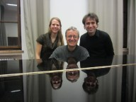With legendary duo pianist Andreas Groethuysen - Not pictured is Yaara Tal who was sadly feeling sick on that day, Munich, March 2014