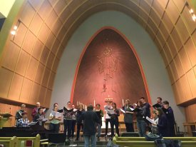 Leonard Enns and DaCapo Chamber Choir Rehearsing Black Riders in Waterloo, ON - May 2017
