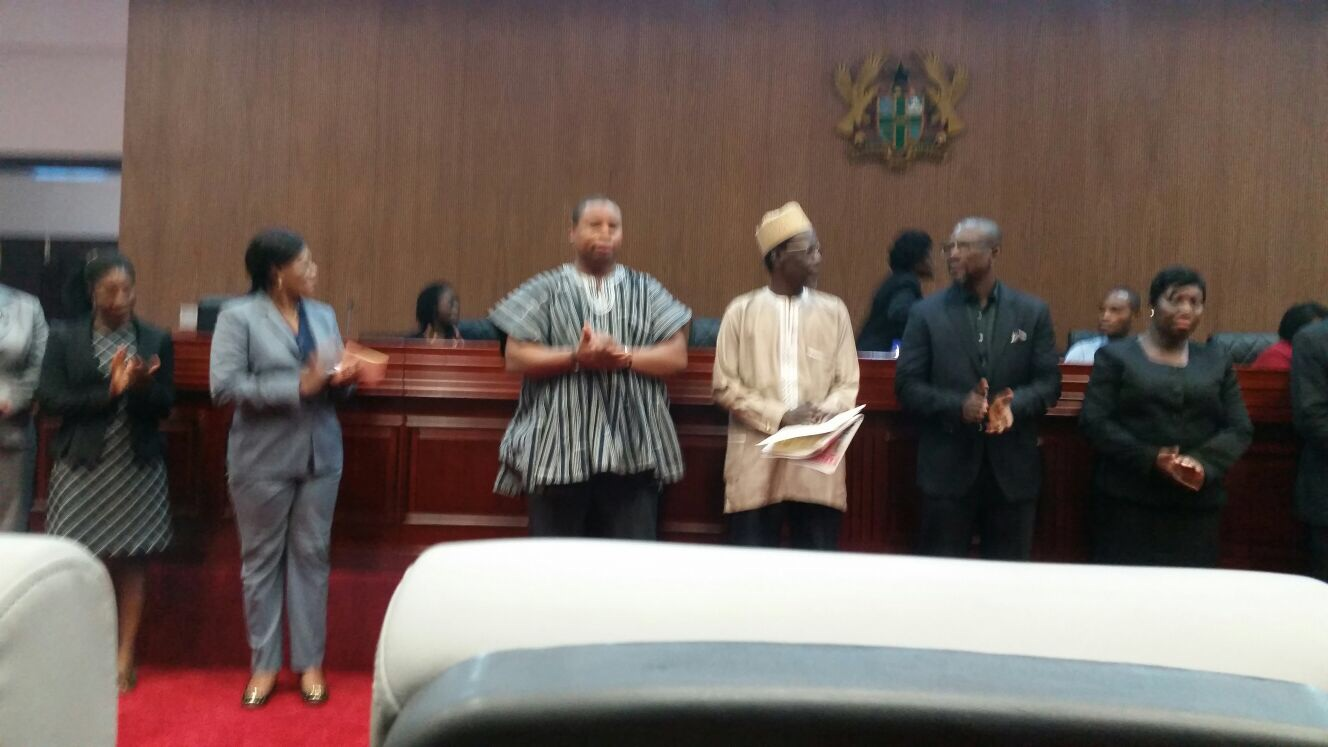 Franklin Cudjoe, together with other appointees | IMANI