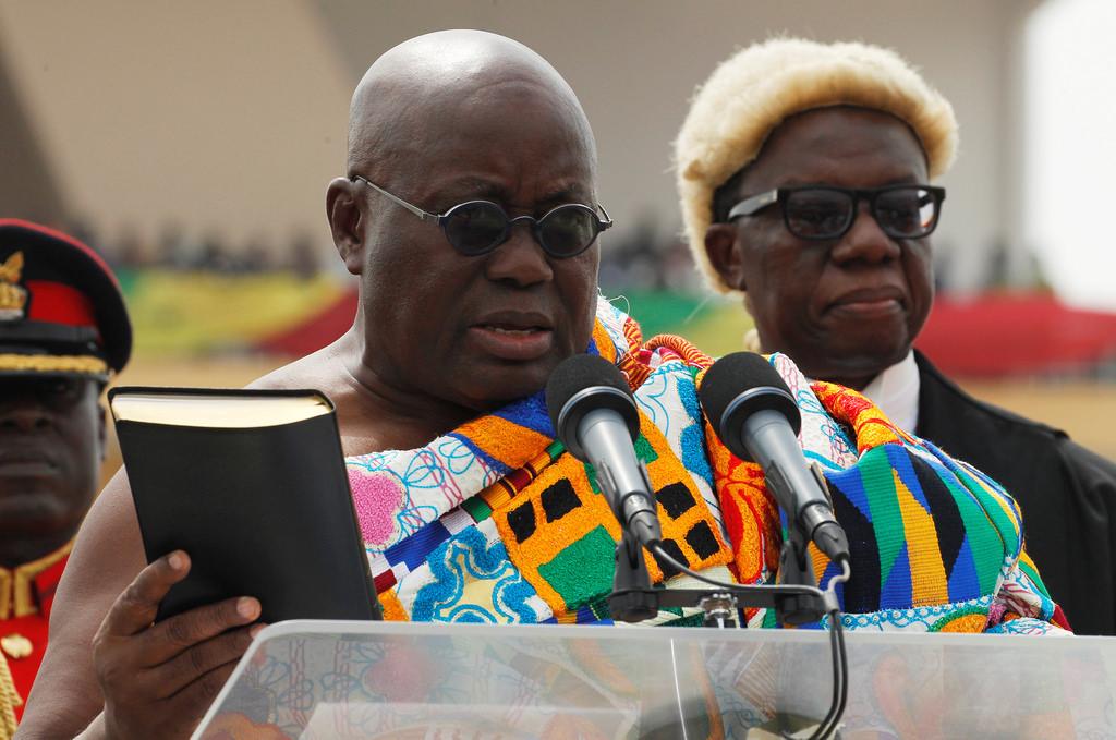 H.E. Nana Addo Dankwa Akufo-Addo sworn as 5th President of the 4th Republic of Ghana.