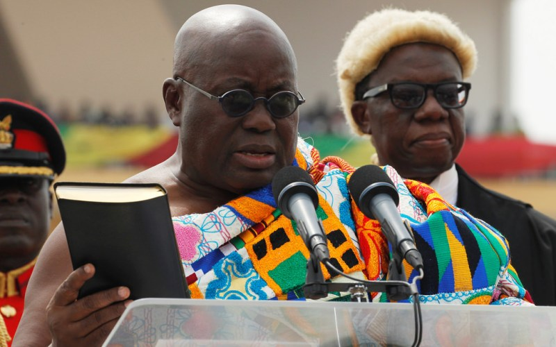H.E. Nana Addo Dankwa Akufo-Addo sworn as 5th President of the 4th Republic of Ghana.