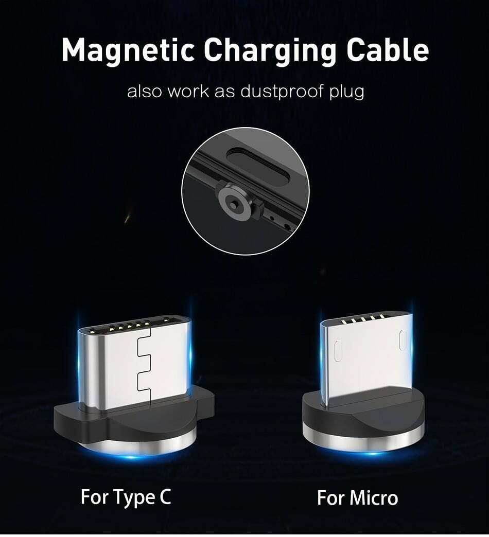 2.4A Type C Cable Magnetic Micro USB Cable Smartphone 9