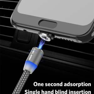 2.4A Type C Cable Magnetic Micro USB Cable Smartphone 25