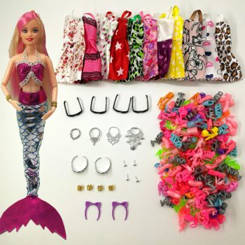 Mermaid Doll Dress and Accessories Toys