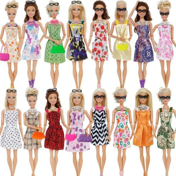 Doll Accessories Barbie Doll Clothes Toys 9