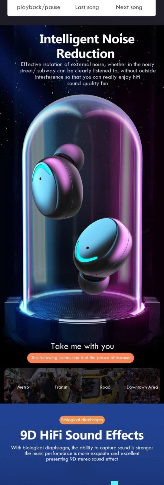Latest Trendy Bluetooth Earphones with 9D HiFi Sound Effect Consumer Electronics 10