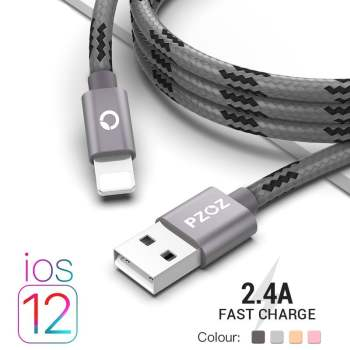 2.4A USB Lightning Cable iPhone Smartphone