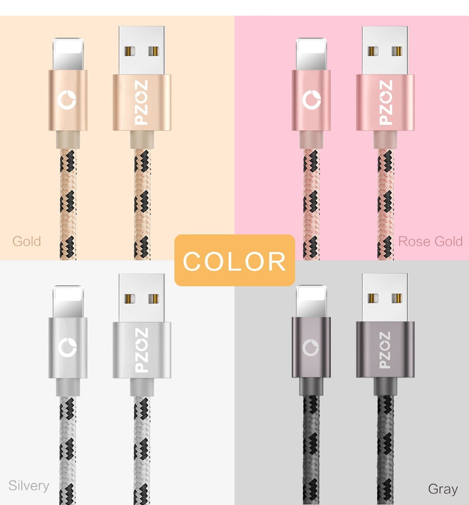 2.4A USB Lightning Cable iPhone Smartphone 5