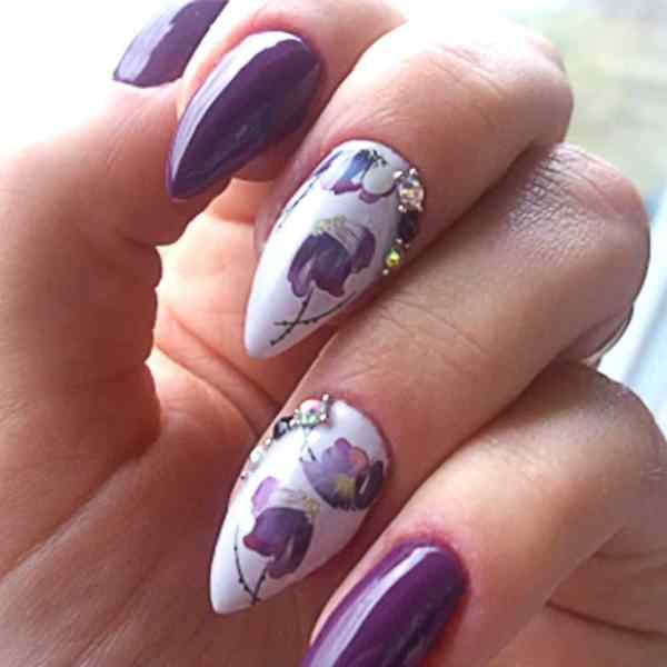 Flower Water Transfer Nail Stickers Beauty & Health 7