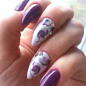 Flower Water Transfer Nail Stickers Beauty & Health 15