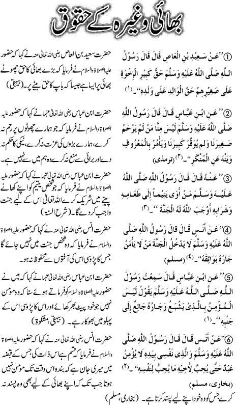 Bhai Kay Haqooq