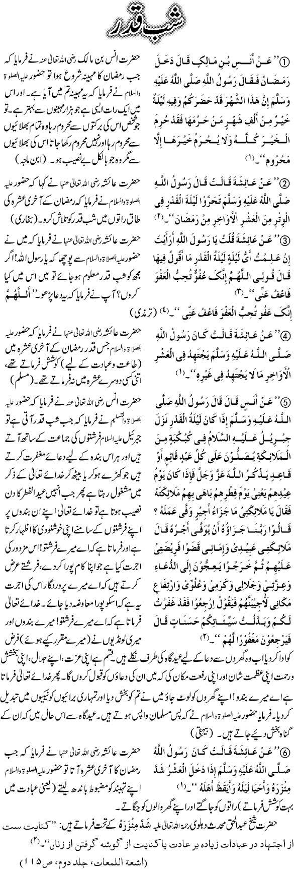 Shab e Qadr: Laylat ul Qadr
