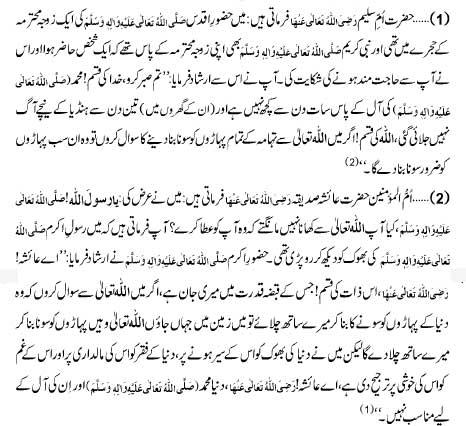 Huzoor-e-Aqdas Sallallahou Alayhe Wasallam Ki Faqar Ko Targhee