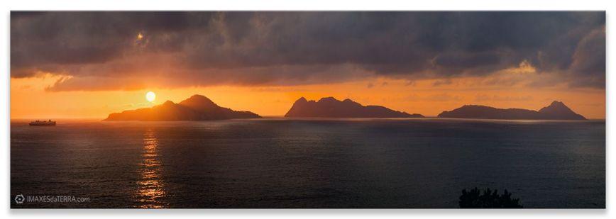 Illas  Cies, Comprar fotografía  de Galicia Illas Cíes Pontevedra Vigo Posta de Sol Natureza Paisaxe Galega Decoración