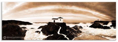 Escaleira ao ceo, Comprar fotografía  pasaxe Ermida dá  Virxen de Porto Valdoviño Natureza Paisaxe Decoración  Sepia
