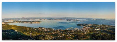 Comprar fotografía de Galicia Ría de Arousa Mirador da Curota Decoración Naturaleza Paisaje