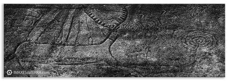 Comprar fotografía de Galicia Petroglifo Laxe dos Carballos Parque arqueológico de Campo Lameiro Decoración Coruña