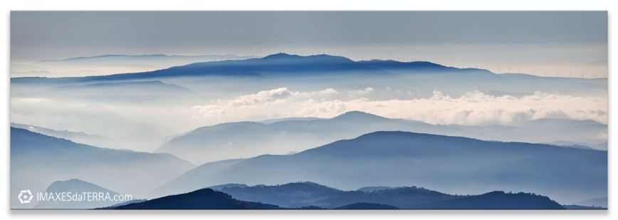 Amanecer Serra do Caurel, Comprar fotografía  de Galicia Serra do Caurel Niebla Decoración Naturaleza Paisaje