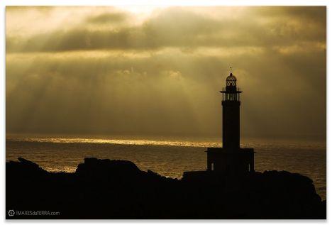 Comprar fotografía faros de Galicia A Coruña Puesta de Sol Malpica Faro Punta Nariga decoración