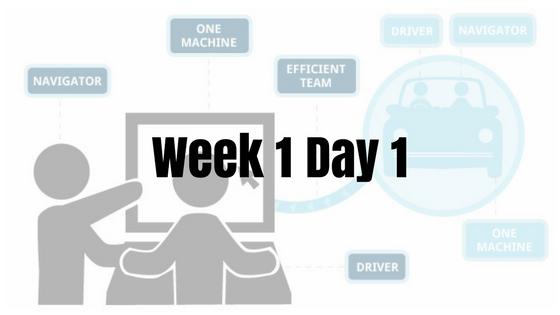 Week 1 Day 1 – Pairing