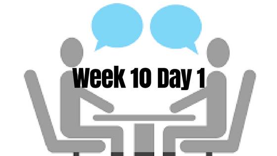 Week 10 Day 1 – First Day on the Job Search and as HiR