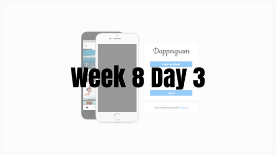 Week 8 Day 3 – Error woes