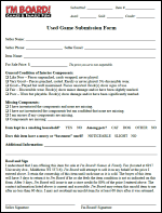 Used Game Submission Form
