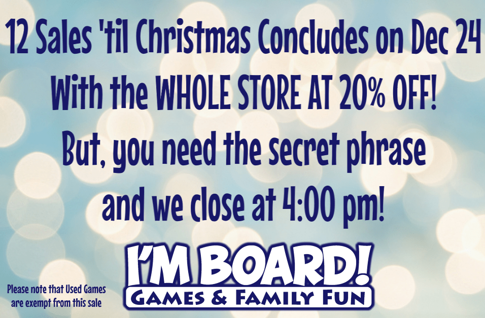 12 Sales 'til Christmas for Tuesday, Dec 24 features the WHOLE STORE at 20% off!