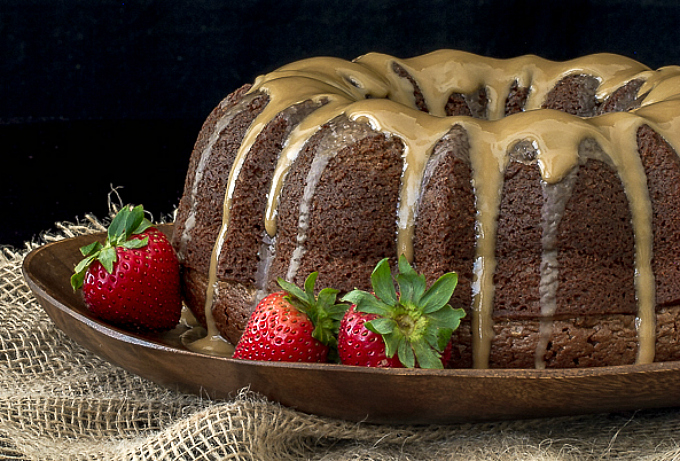 Black Russian Cake with Kahlua Glaze