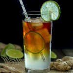 Dark and Stormy cocktail made with dark rum and ginger beer. Perfect drink any time of the year!