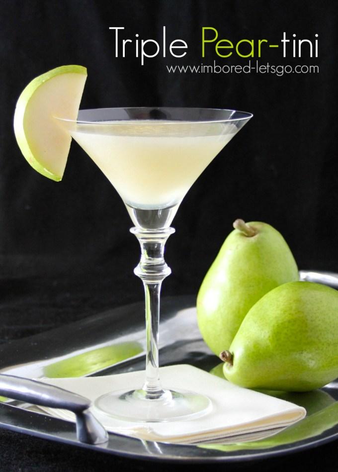 Triple Pear-tini - a fantastic pear martini!