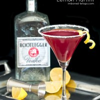 Pomegranate Lemon Martini is delicious made with Bootlegger Vodka