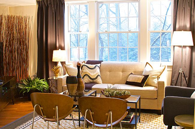 Budget Decorating: Apartment Living Room