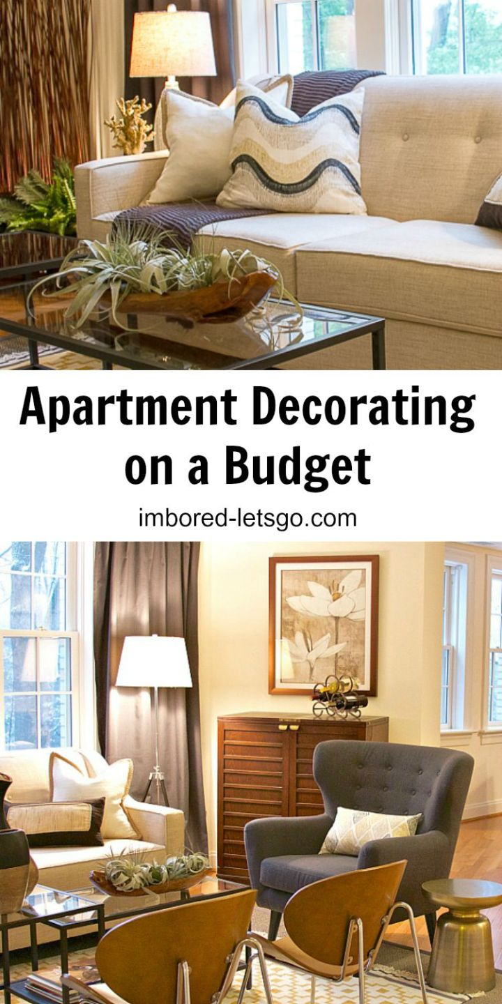 You can still get a designer look when decorating your apartment living room while on a budget. Here's how I did it!