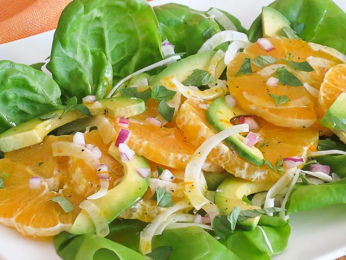 Orange Avocado Fennel Salad