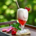 Strawberry Rhubarb Float {& Strawberry Rhubarb Syrup}