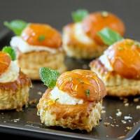 Apricot Mascarpone Stuffed Puff Pastry