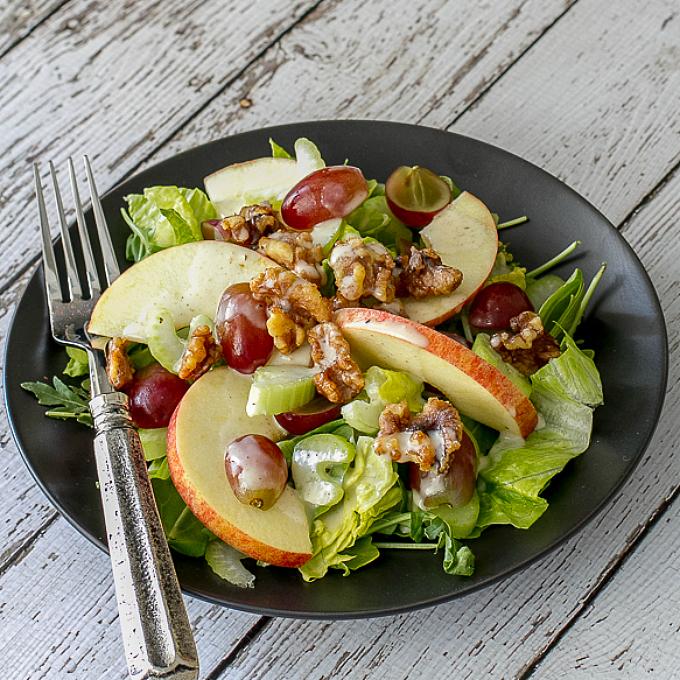Waldorf Salad with greens