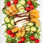 Watermelon Cucumber & Burrata Salad