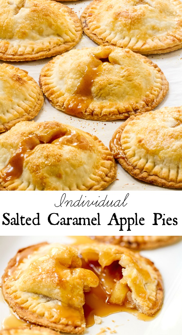 Salted Caramel Apple Pies Collage