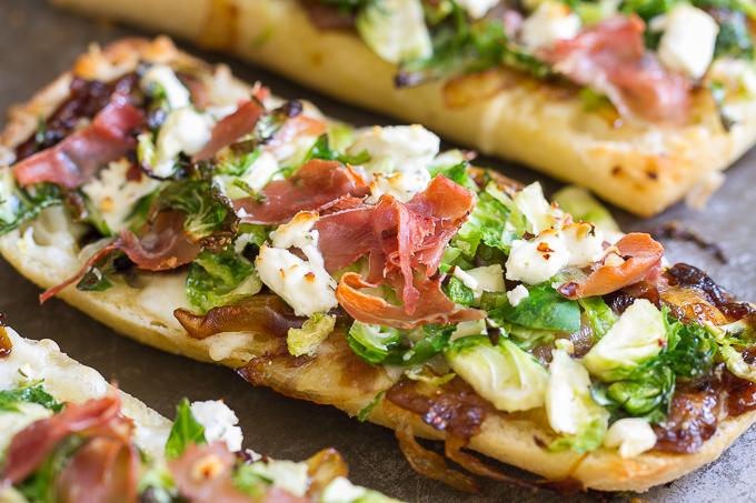 Brussels Sprouts Prosciutto Ciabatta Pizza