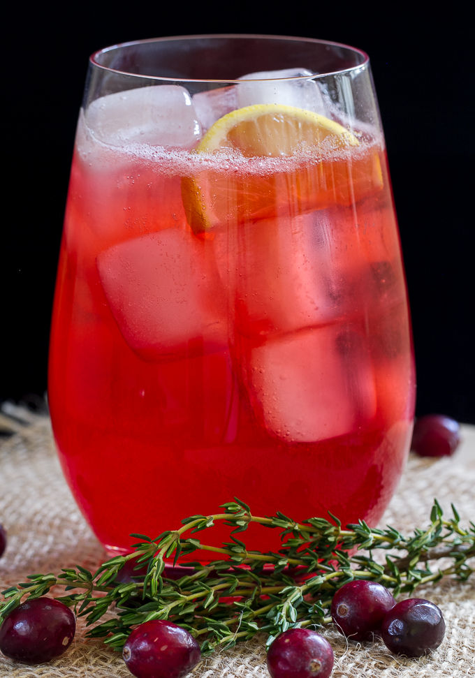 Cranberry Thyme Gin Cocktail