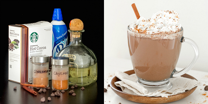 Spiked Mexican Hot Chocolate & Ingredients